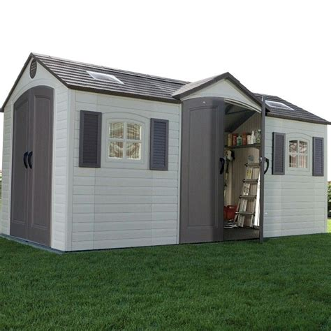 lifetime 15x8 shed uk lifetime apex dual entry plastic shed 15x8 one garden