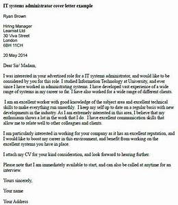 it systems administrator cover letter example job With sysadmin cover letter