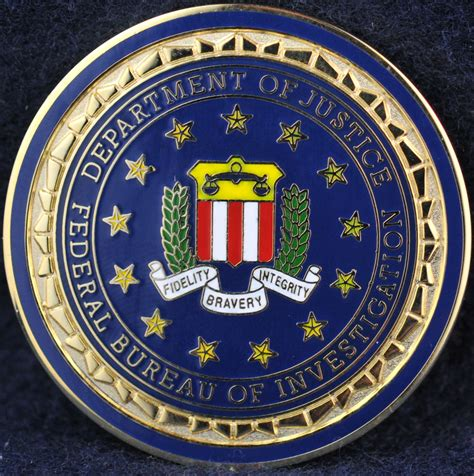 fbi bureau federal bureau of investigation challengecoins ca