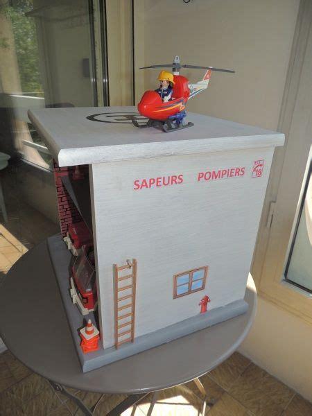 une caserne de pompier 224 partir d une table de chevet playmobil f 233 e maison