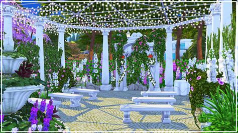 rosey wedding venue  sims  speed build youtube
