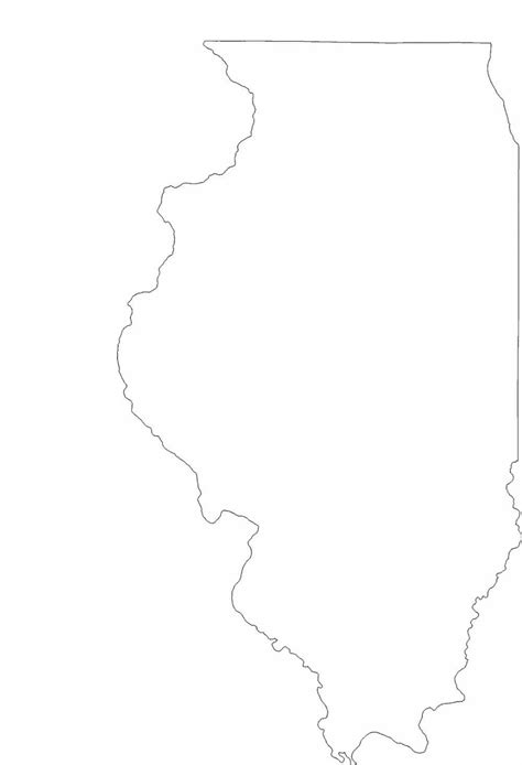 illinois state outline map