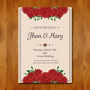 floral wedding invitation design vector free download With wedding invitation design freepik