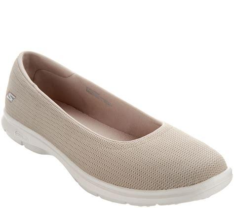 skechers  step mesh ballet slip  shoes luxe