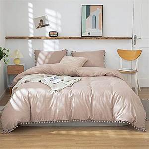 3, Pieces, Taupe, Bedding, Tan, Grey, Duvet, Cover, Set, Ball, Fringe, Pattern, Design, Soft, Taupe, Grey