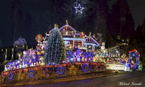 vancouver bc christmas lights north vancouver house decked out with 100 000 lights for