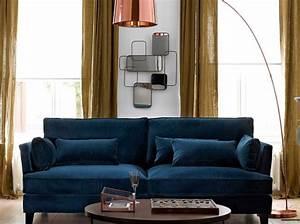 Canapé Velours Bleu Canard : moutarde notes de styles le blog ~ Teatrodelosmanantiales.com Idées de Décoration