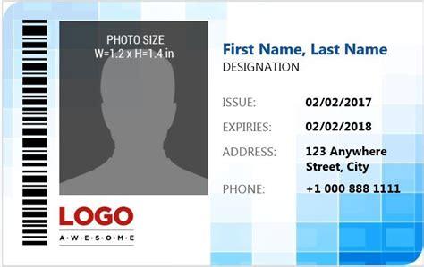 employee photo id badges template   docs xlsx