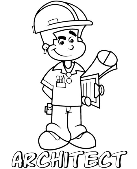 architect coloring page topcoloringpagesnet