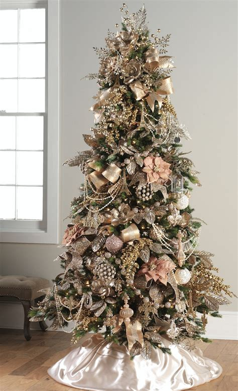 pretty  pink christmas tree  fine rose gold