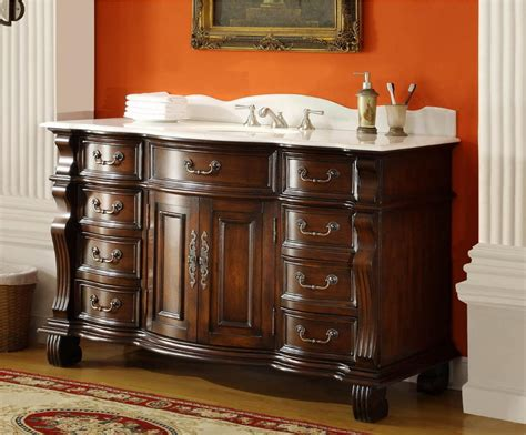 Inch Single Sink Bathroom Vanity Drawers Medium Brown