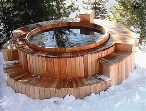 Spa En Bois Pas Cher : inspiration piscine bois jacuzzi ~ Premium-room.com Idées de Décoration