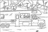 Coloring Camper Rv sketch template