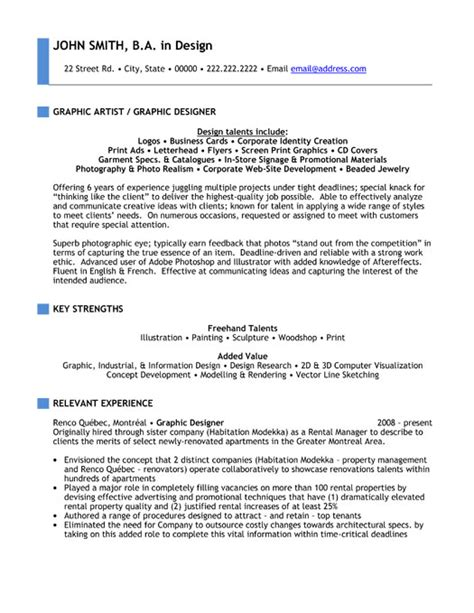 Resume Of Graphic Artist by Top Multimedia Resume Templates Sles