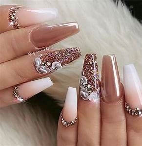 82 trendy acrylic coffin nails design for nails for