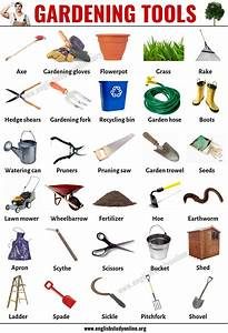Gardening Tools  List Of 30 Useful Tools Names For