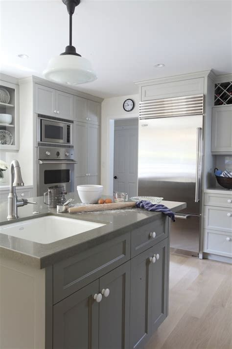 gray painted cabinets contemporary kitchen benjamin