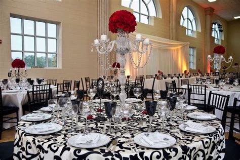 55 black white and red table settings red and black