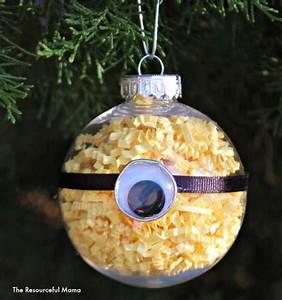 Minion Homemade Christmas Ornament