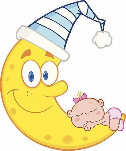 Sleeping Clipart Clip Illustrations Moon Boy Hat