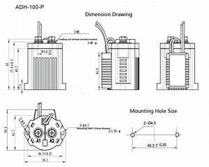 120v 200v Battery Car Motor High Power Dc Contactor Relay