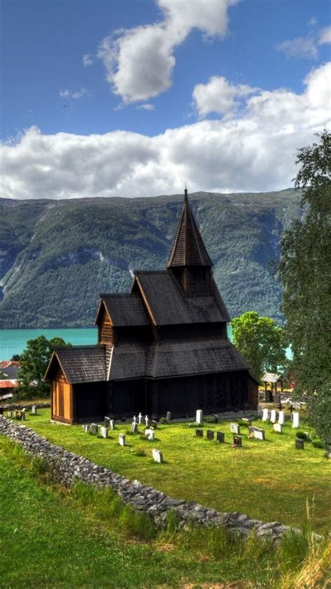 landscapes norway europe church wallpaper