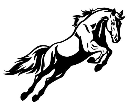 mustang horse silhouette free coloring pages of mustang logo
