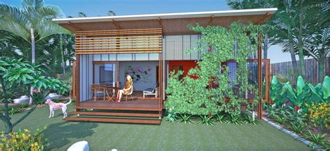 backyard pavilion queensland baahouse flats tiny house small houses brisbane
