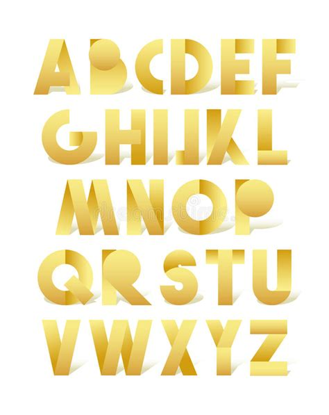 gold lettering font retro font in gold golden alphabet realistic letters 29929