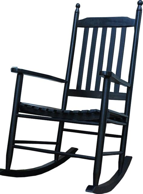 durable wooden black patio porch rocker rocking chair