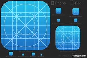 4 designer ios 7 icon template for Iphone app logo template