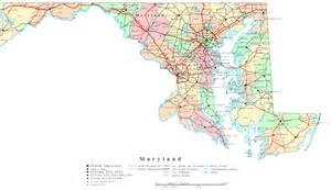 Printable Map of Maryland Cities