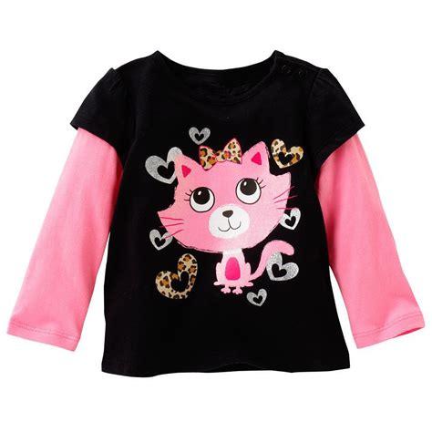 kids girls  cotton long sleeve black tee tops  shirts