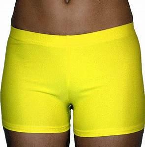 Bright Neon Yellow 2 5 inch Inseam Spandex pression