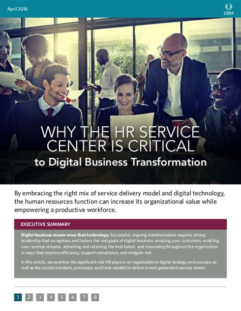 why the hr service center is critical to digital transformation
