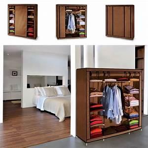 armoire de rangement chocolat dressing penderie xxl tissu With meuble chaussure grande capacite 17 rangements chaussures maison futee