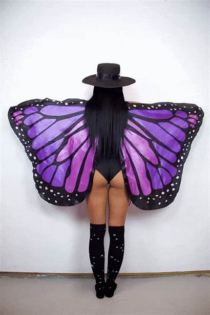Wings Rave Outfits Festival Butterfly Costumes Makeup