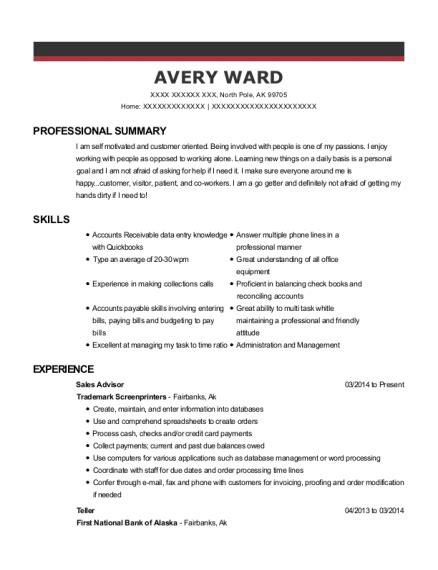 Resume M A Advisor by H M Sales Advisor Resume Sle Denver Colorado Resumehelp