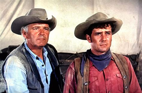 """Terry Wilson And Robert Fuller In """"wagon Train."""""""