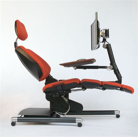 futuristic desk  chair station  fully adjustable