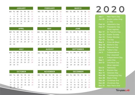 holidays calendar  kozenjasonkellyphotoco