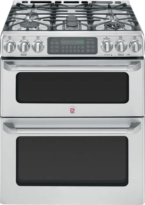 cgssetss ge cafe    gas double oven range convection
