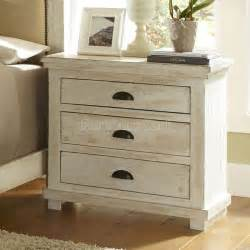 willow nightstand distressed white for the home