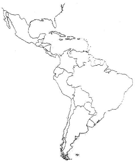 unlabeled map  latin america  travel information