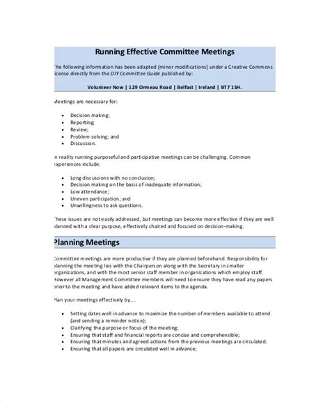 effective meeting agenda template   word