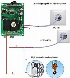 Generic Smart Home 433mhz Rf Dc 12v 2ch Learning Code