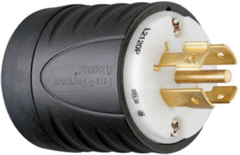 Legrand Turnlok® Black/white 20-amp 3-phase Y 120/208-volt
