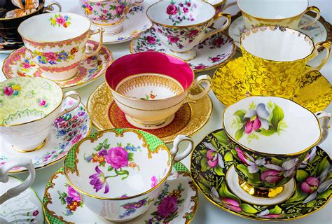 Many Beautiful Tea Cups Photograph By Garry Gay