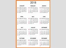 Calendar 2018 Printable One Page Latest Calendar