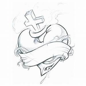 Cross Heart Tattoo Designs